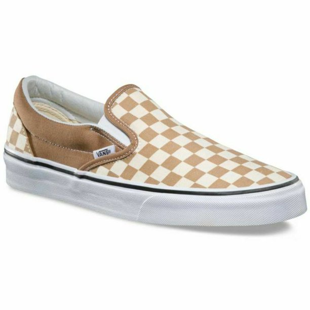 Vans Classic Slip On Checkerboard Tiger's Eye Men's Skate Shoes Size 9