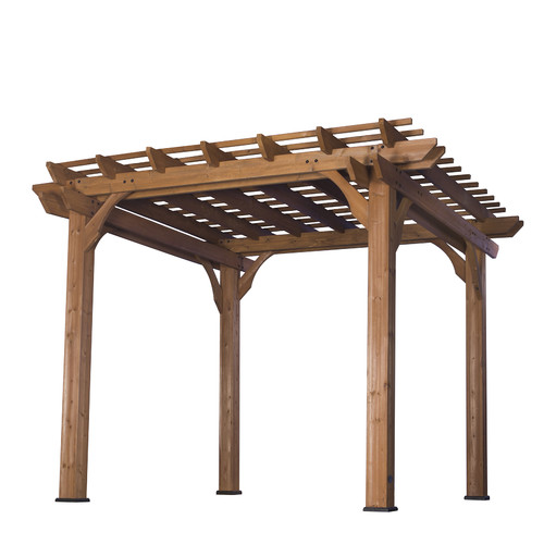 Backyard Discovery Cedar 10 Ft. W x 10 Ft. D Solid Wood Pergola by Backyard Discovery