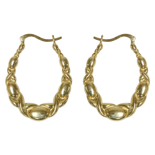 Forever New Gold Tone X and O Hoop Earrings
