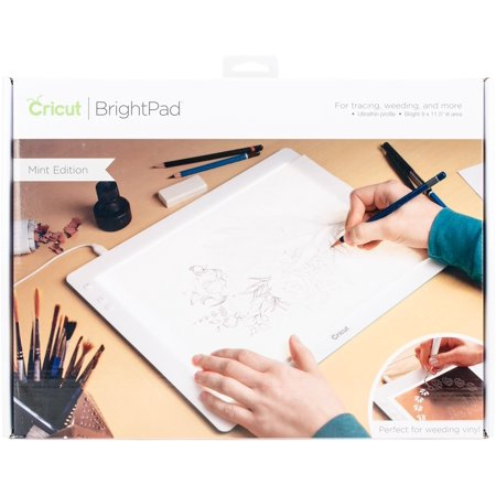 Cricut Bright Pad - Mint - Lightweight, durable Cricut bright pad with adjustable LED light
