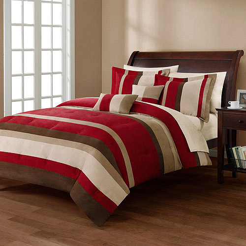 Mainstays Boulder Stripe Comforter Mini Set