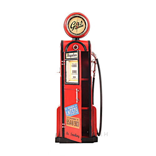 Old Modern Handicrafts Decorative Gas Pump with Clock 1:4 by Old Modern Handicrafts