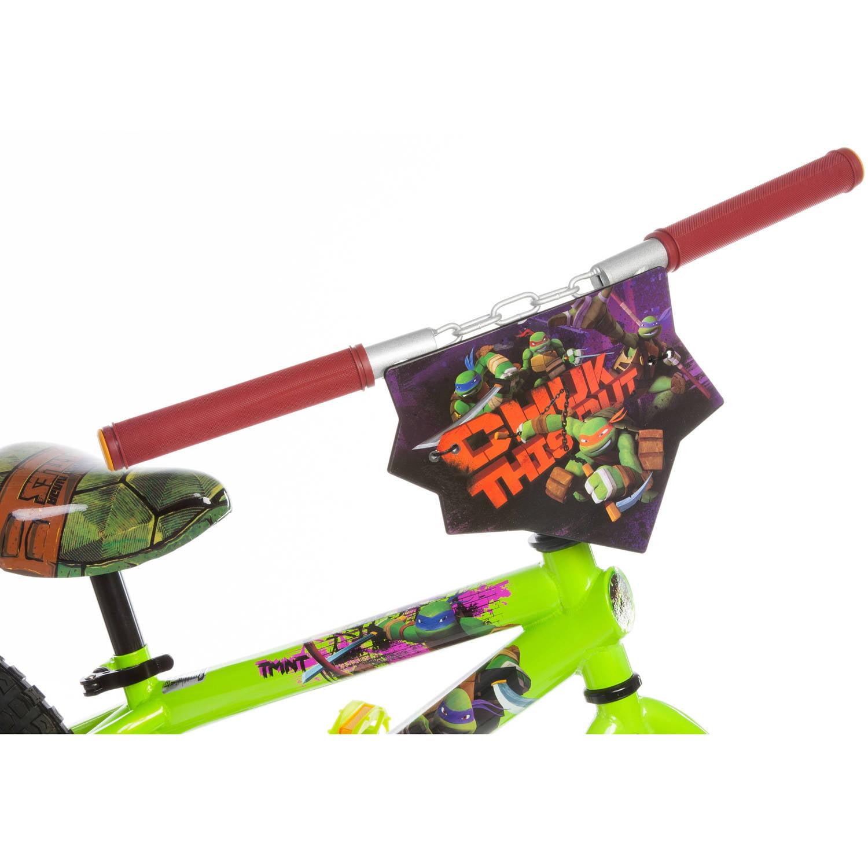 16 nickelodeon teenage mutant ninja turtles boys bike green
