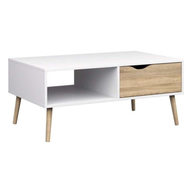 Superieur Tvilum Diana Coffee Table, White And Oak
