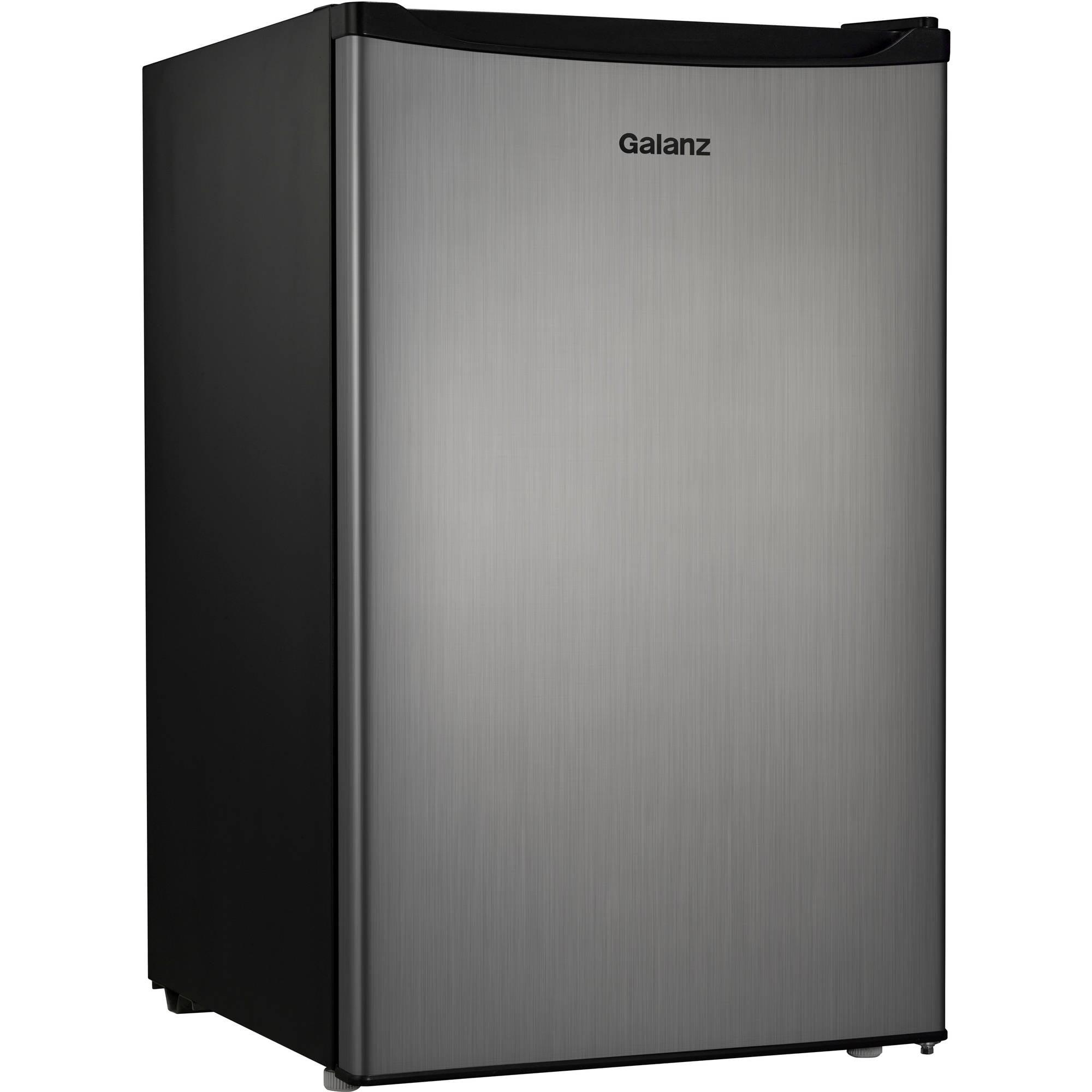 Galanz 4.3 Cu Ft Single Door Compact Refrigerator GL43S5, Stainless Steel Look