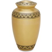 Star Legacy's Athena Bronze - Gold Brass Metal Cremation Adult Urn for Human Ashes w Velvet Bag