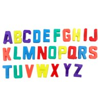 Unique Bargains 26 in 1 Colorful Plastic English Letter Whiteboard Fridge Refrigerator Magnets