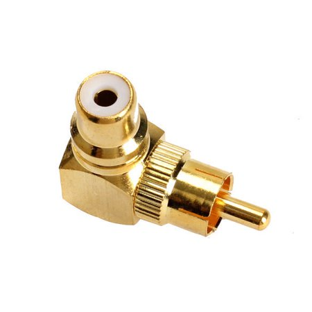 Gold Plated 90 Degree RCA Male to Female Connector 90 Degree RCA Connector L Shape RCA Plug L Shape RCA Audio Connector