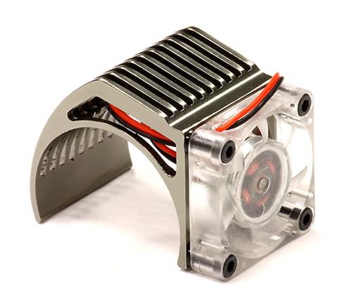 Carrosserie, interieur Motor Speelgoed en spellen C25794ORANGE Integy High Speed Cooling Fan+Heatsink Mount for 36mm O.D