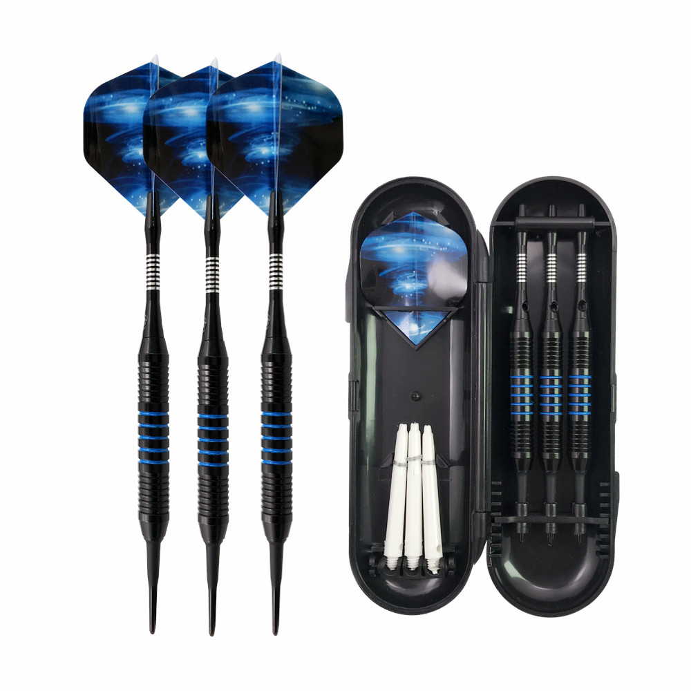 3PCS Soft Tip Darts w// Case w// Extra 3 Shafts Indoor Activities Games Electronic