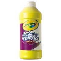 Crayola Artista Ii Washable Tempera Paint, Yellow, 16 Oz, 1 Each