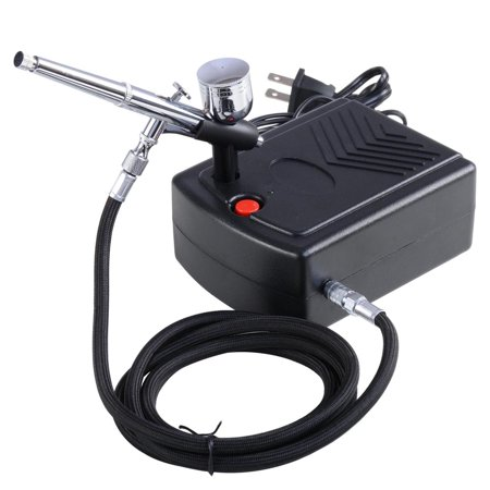 Pro Makeup Airbrush Kit 0.3mm Dual-Action Spray Gun Air Compressor Tattoo Hobby
