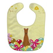 Carolines Treasures BB6062BIB Easter Eggs Irish Terrier Baby Bib