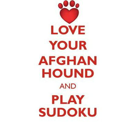 Love Your Afghan Hound and Play Sudoku Afghan Hound Sudoku Level 1 of 15