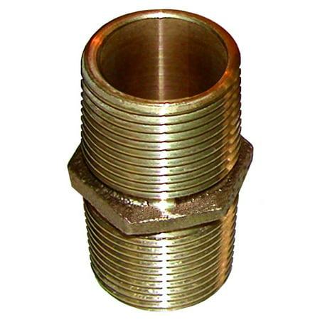 Groco Bronze Pipe - Groco PN-1000 Bronze Pipe Nipple - 1