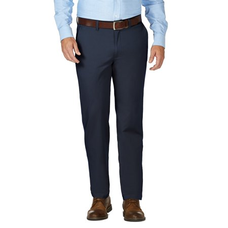 JM Haggar Men's Luxury Comfort Flat Front Chino Pant  Slim Fit