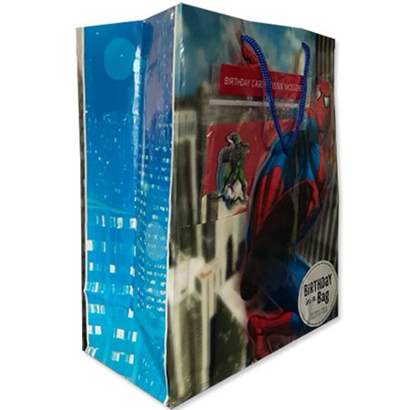 Spider-Man Spider Sense Large Gift Bag w/ Birthday Card and Tissue (1ct)