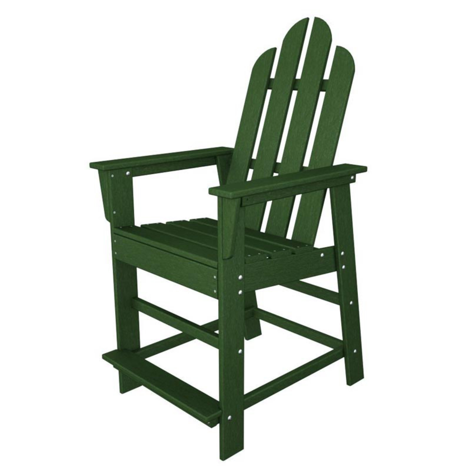 POLYWOOD® Long Island Recycled Plastic 24 in. Outdoor Counter Chair