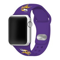 Minnesota Vikings Silicone Watch Band Compatible with Apple Watch 42/44mm Purple