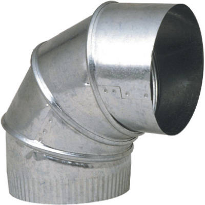 8-Inch 90-Degree Galvanized Adjustable Elbow - Pack of 8