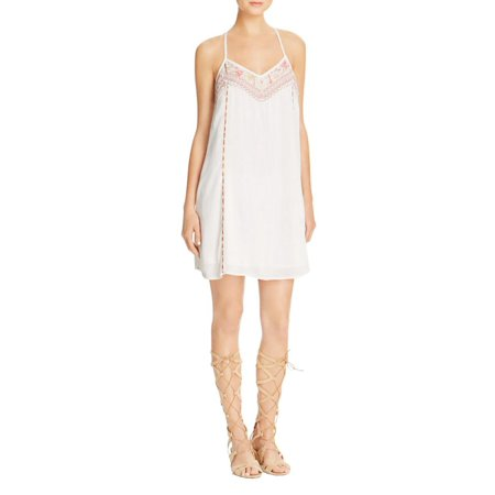 Band of Gypsies Womens Crinkled Embroidered Tank Dress