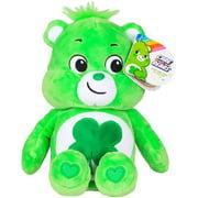 "Basic Fun New 2020 Care Bears - 9"" Bean Plush - Good Luck Bear - Soft Huggable Material!"