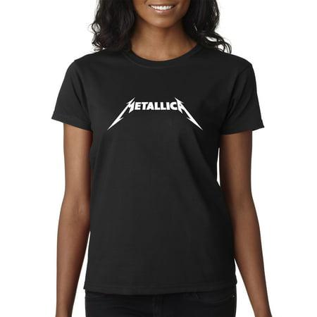 New Way 925 - Women's T-Shirt Metallica Metal Rock Band Logo Large