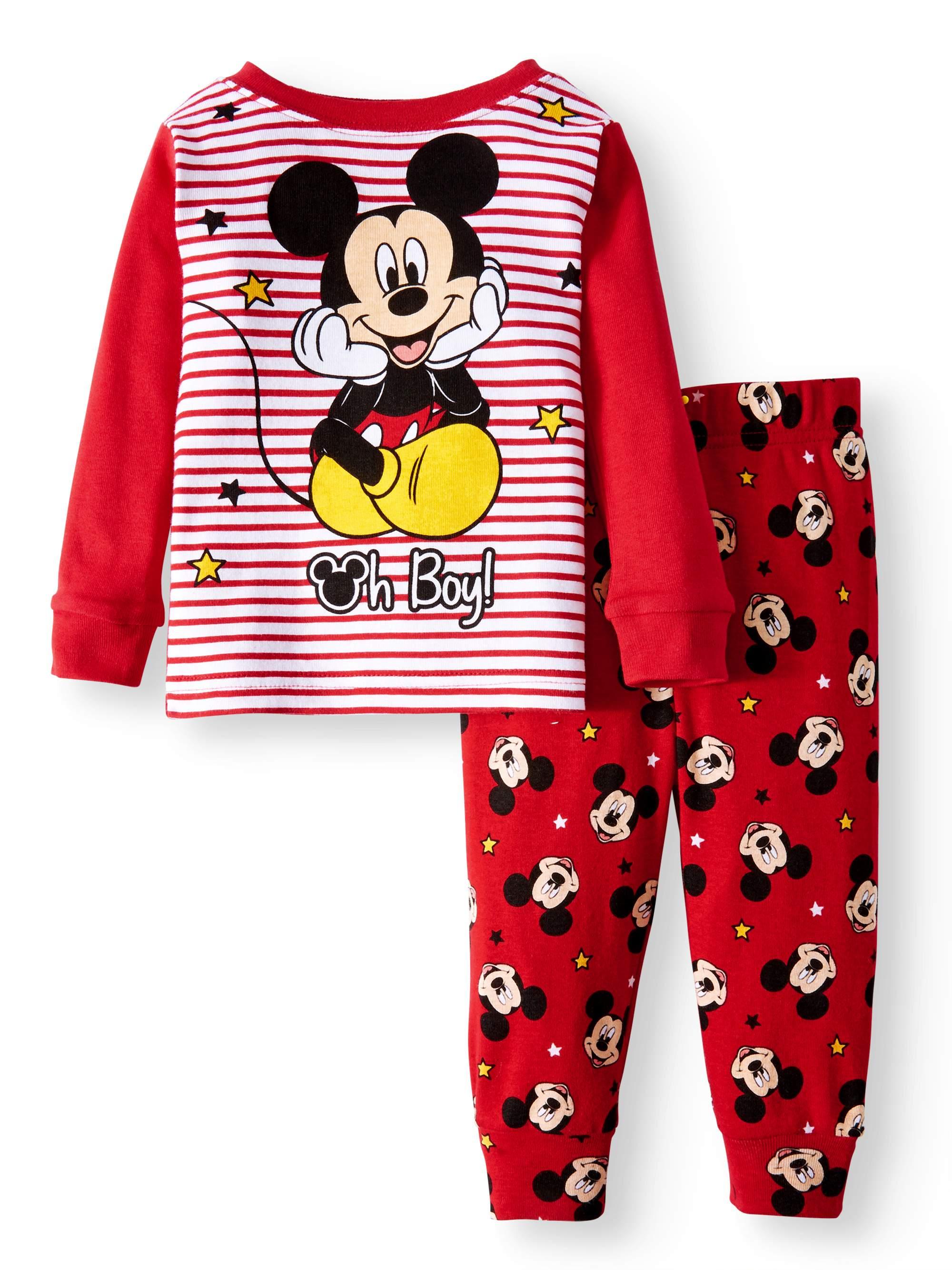 Mickey Mouse Cotton Tight Fit Pajamas, 2-piece Set (Baby Boys)