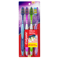 Colgate Zig Zag Deep CleanToothbrush, Soft - 4 Count