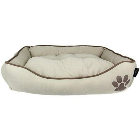 - Parisian Pet Earth Dog Bed - Khaki One Size