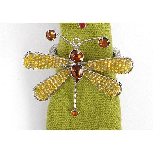 Arcadia Home Dragonfly Napkin Ring (Set of 8)