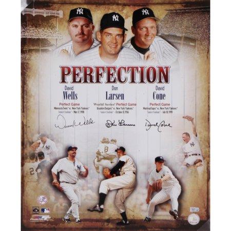 New York Yankees David Cone - Don Larsen, David Cone, and David Wells New York Yankees Fanatics Authentic Autographed 16