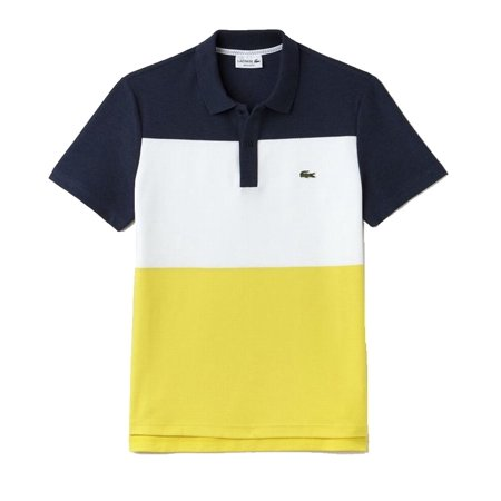 d7be8ee22a423 Lacoste - Lacoste NEW Blue Yellow Mens Size Medium M Colorblocked Polo Shirt  - Walmart.com