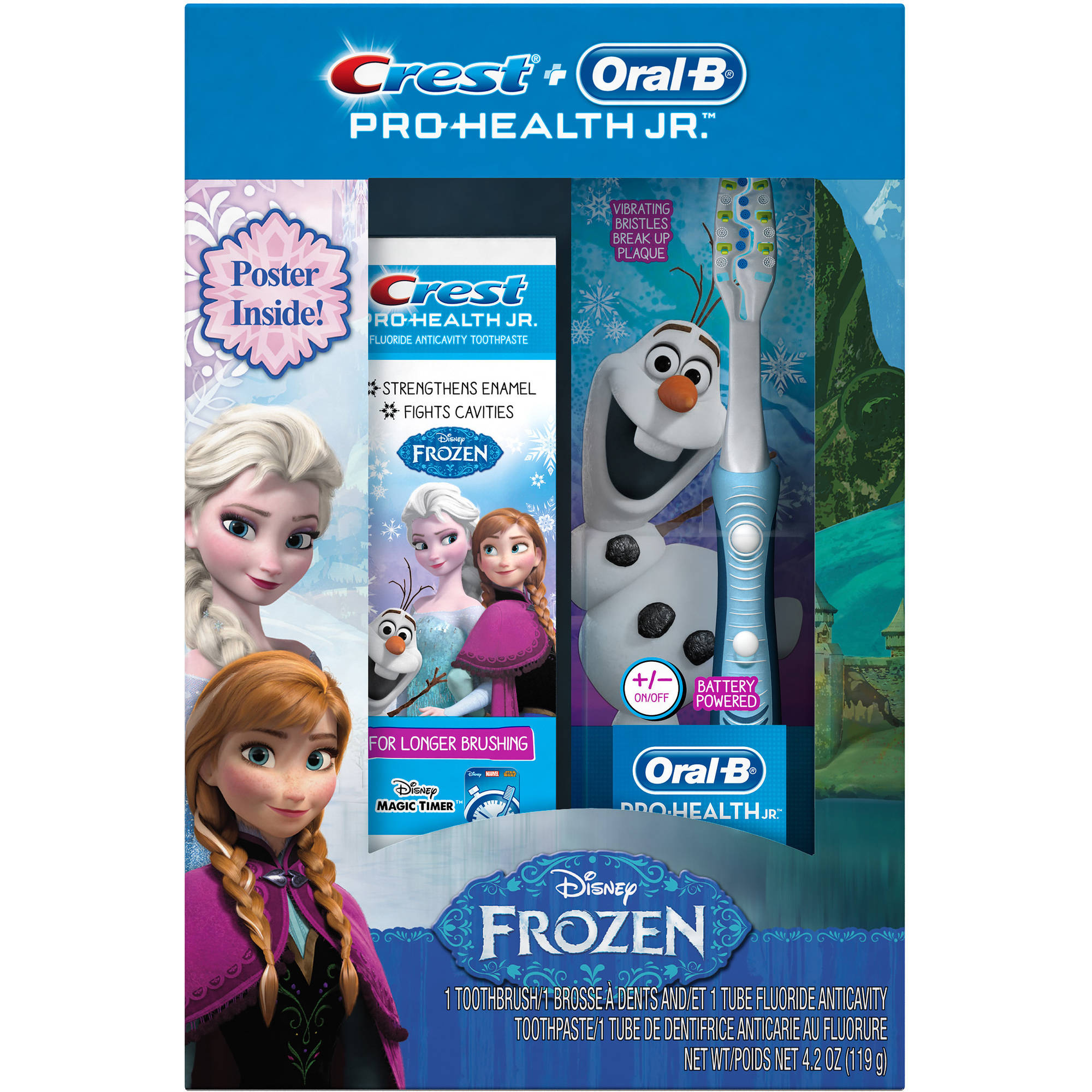 Crest & Oral-B Pro-Health Jr. Disney Frozen Toothpaste & Toothbrush, 3 pc