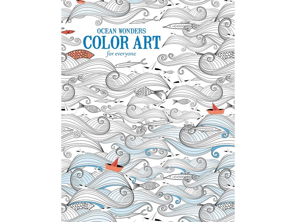 Leisure Arts Color Art Ocean Wonders Coloring Bk by Leisure Arts