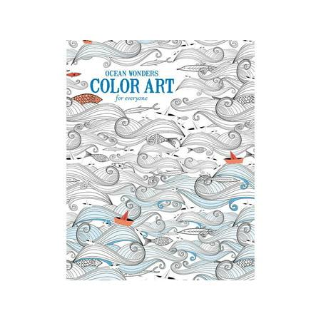 Leisure Arts Color Art Ocean Wonders Coloring Bk