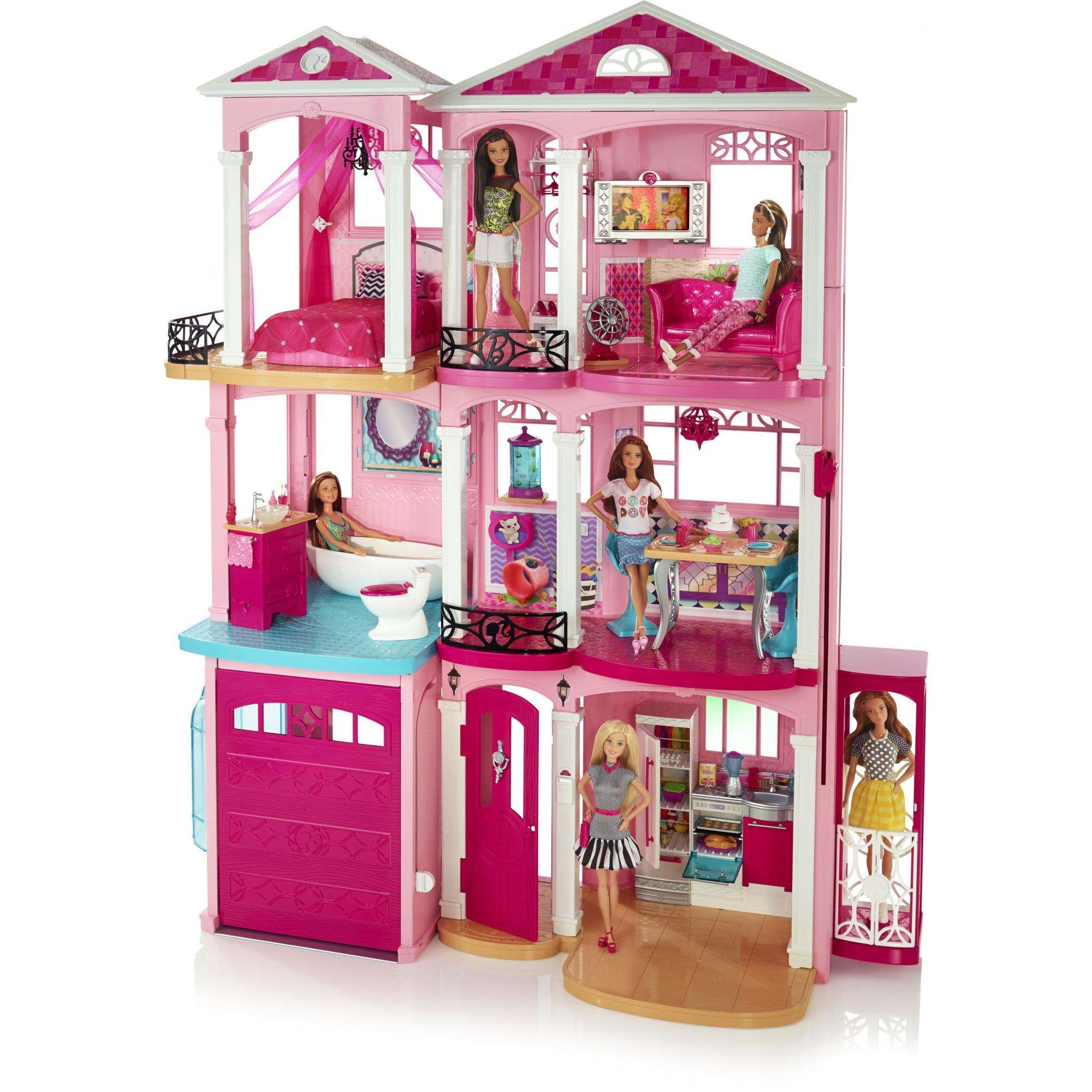 BarbieR DreamHouseR Playset With 70 Accessory Pieces