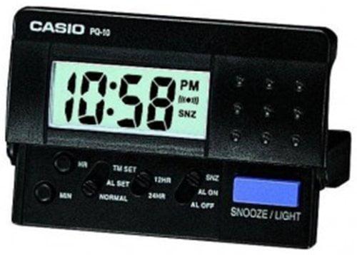 31300 Equity by La Crosse LCD Digital Fold-Up Travel Alarm Clock Refurbished