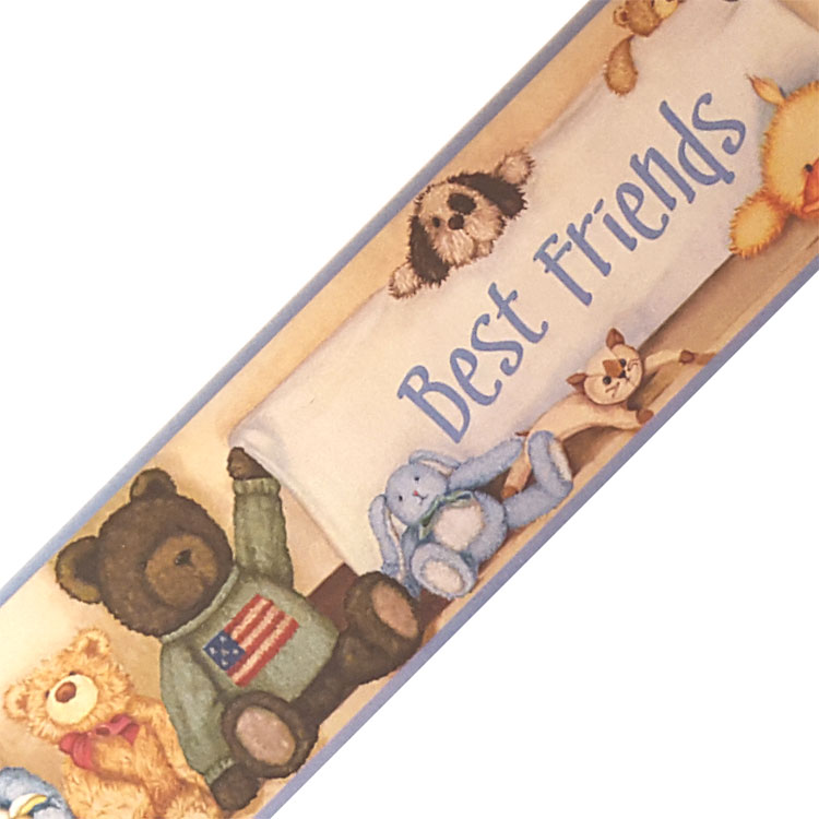Cuddle Buddles Stuffed Animals Prepasted Wallpaper Border