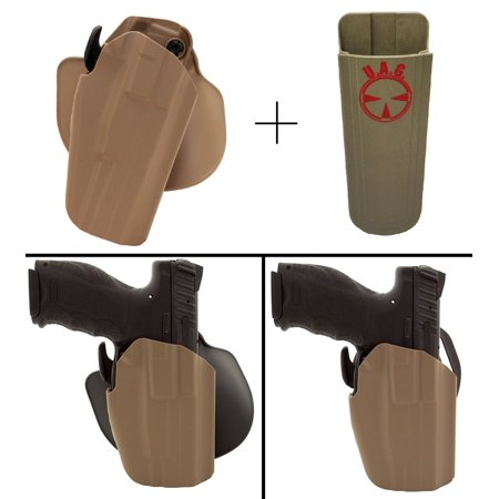 Safariland Rogers Holster GLOCK 19 38 Pro-Fit 578-283-551 7TS GLS Compact  Frame Multi-Fit Paddle & Belt Right Hand, Flat Dark Earth + Ultimate Arms