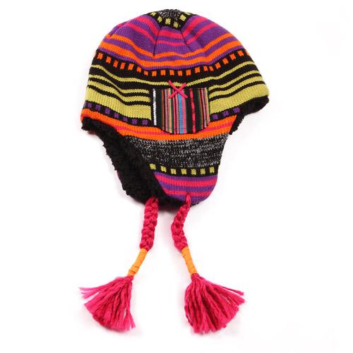 MUK LUKS Girl's Faux Fur Tassel Tie Helmet