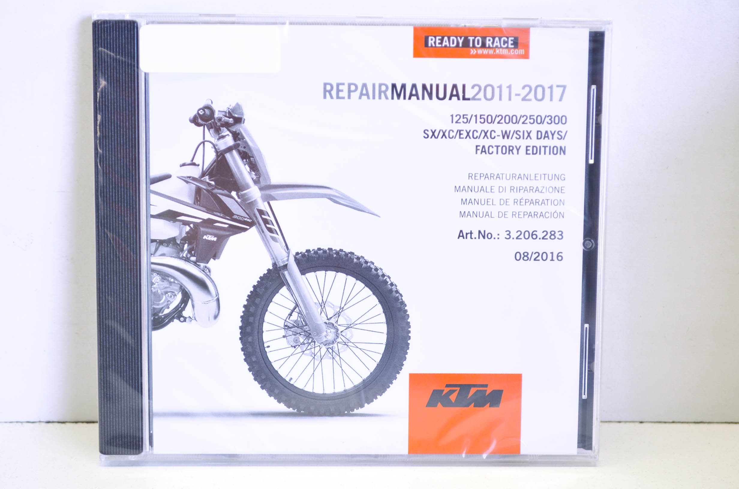 KTM 3206283 2011-2017 125-300 SX/XC/EXC/XC-W/ SIX DAYS Factory Edition Repair  Manual CD Disc QTY 1 - Walmart.com