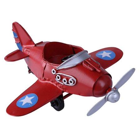 Vintage / Retro Iron Propeller Airplane Plane Aircraft Handicraft Models -The Best Choice for Photo Props/christmas Gift/home Decor/ornament/souvenir Study Room Desktop Decoration Cake