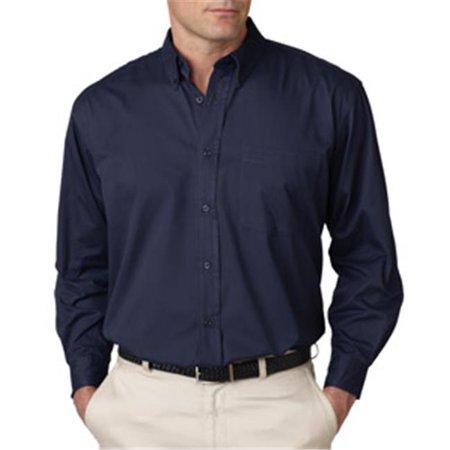 Ultraclub 8975t mens tall whisper twill shirt navy xlt for Mens xlt t shirts