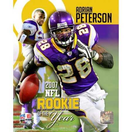 Adrian Peterson - 2007 NFL Rookie of the Year Photo Print Adrian Peterson Wall Graphic