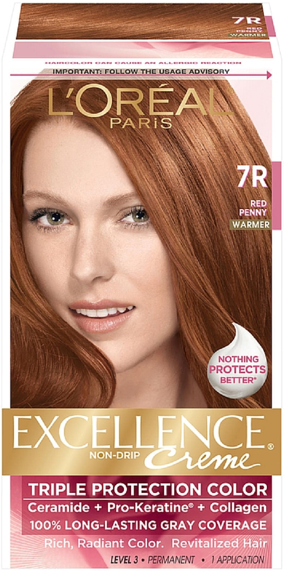 Loreal Paris Excellence Non Drip Creme Hair Color Red Penny