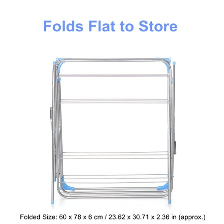 3-Tier Folding Clothes Drying Airer Rack Indoor Outdoor Laundry Dryer Concertina - image 6 de 12