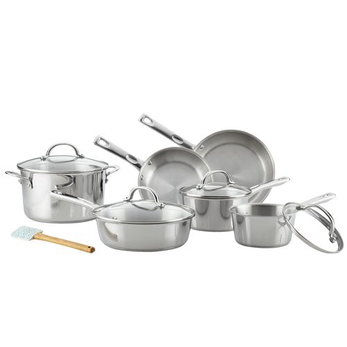 Ayesha Curry Stainless Steel Cookware Set, 11-Piece by Meyer Corporation