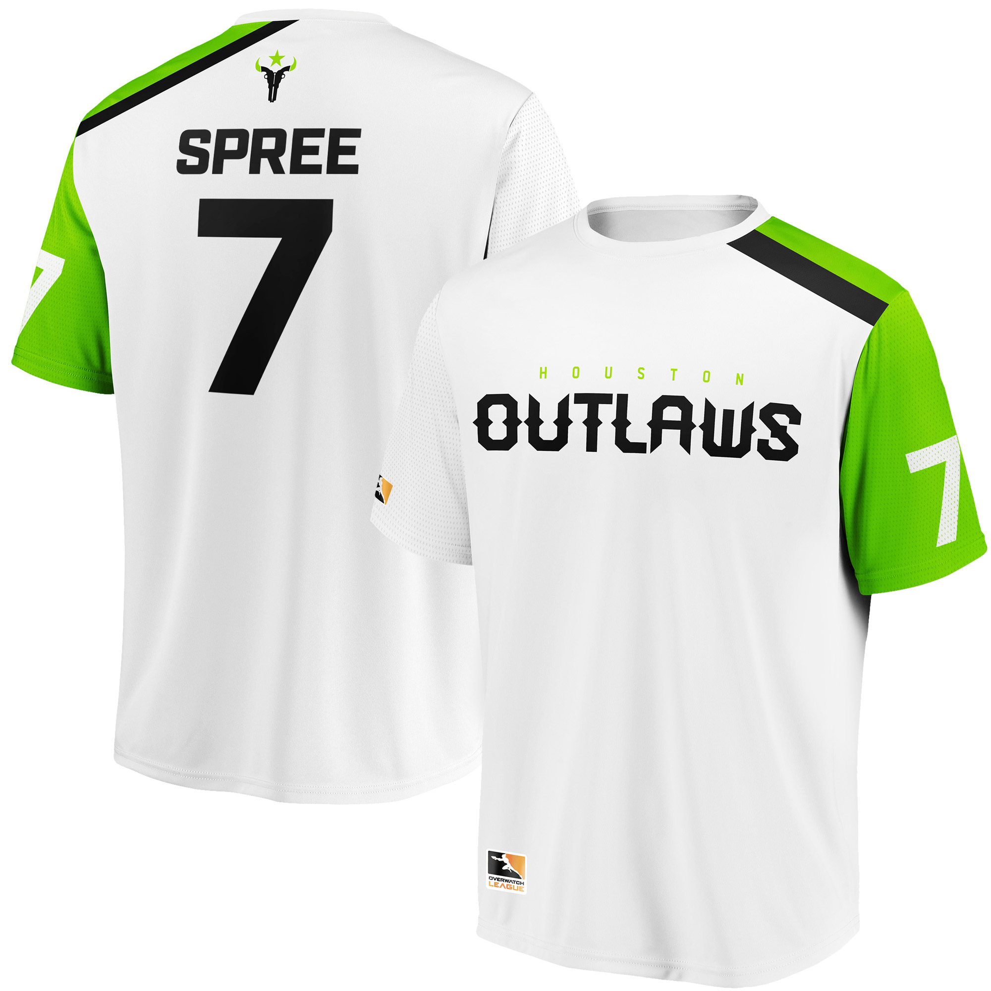 SPREE Houston Outlaws Overwatch League Replica Away Jersey - White