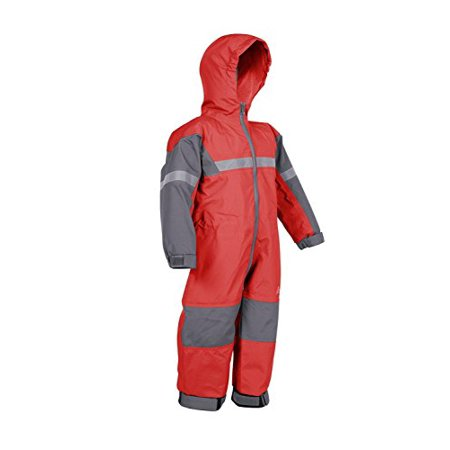 Red Coverall - Children's One-Piece Waterproof Trail Rain Suit
